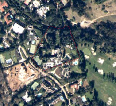 playboy mansion color aerial photo
