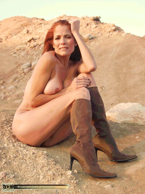 playboy playmate charlette kemp outside posing nude